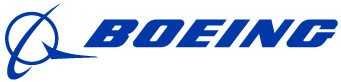 The Boeing Company logo - blue lettering