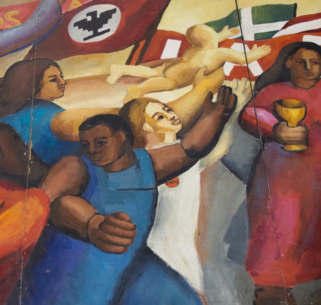 Detail from Segundo Ruiz mural