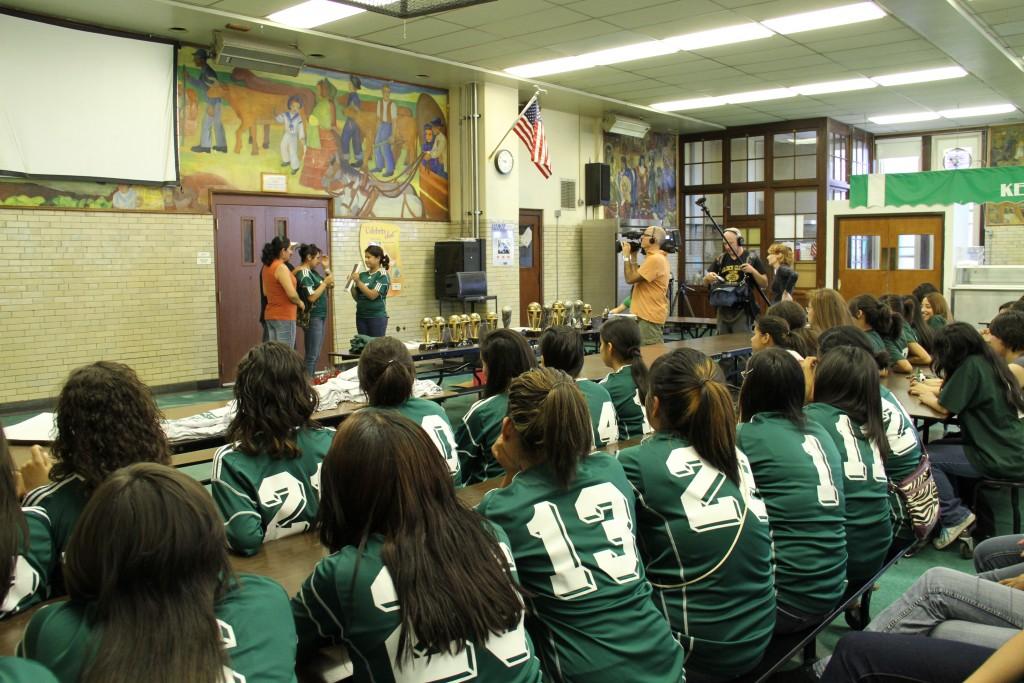girls soccer team award ceremony