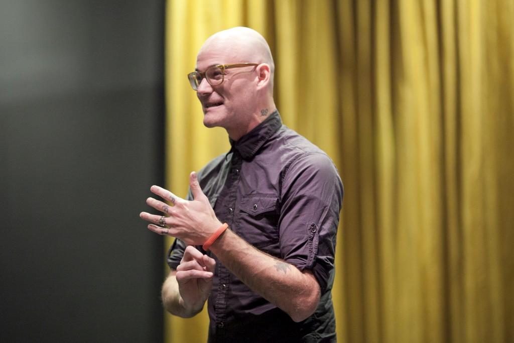 Sean Graney speaking in September 2014