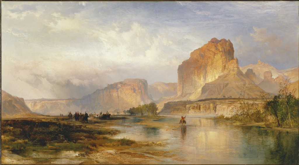 Thomas Moran (1837-1926); Cliffs of Green River; 1874; Oil on canvas; Amon Carter Museum of American Art, Fort Worth, Texas; 1975.28