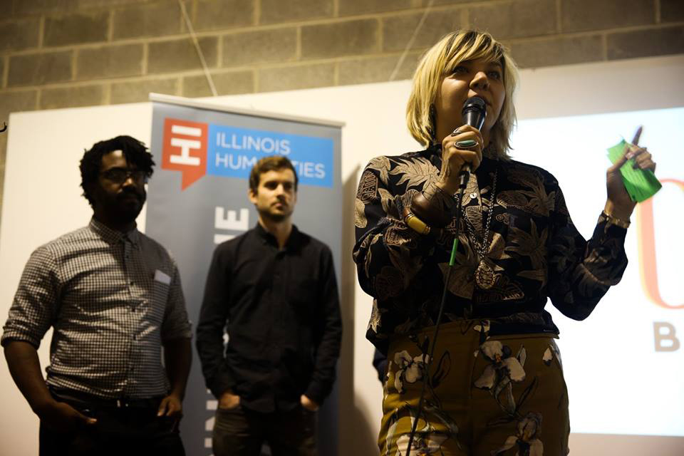 L-R: Darryl Holliday Harry Backlund, Andrea Hart at Reporting Back Launch on 10/28/15