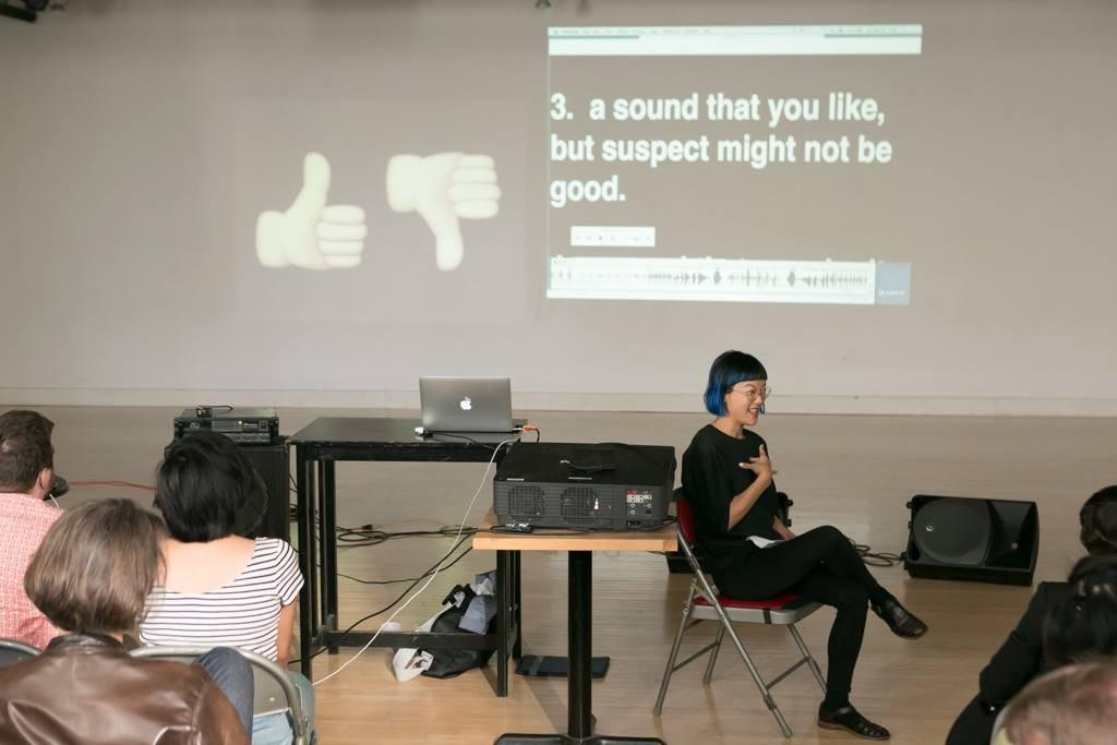 Christine Sun Kim leading masterclass