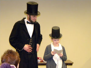 Kevin Wood as Abe Lincoln