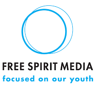Free Spirit Media -- focused on our youth -- Logo