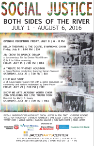 Social Justice grants program poster