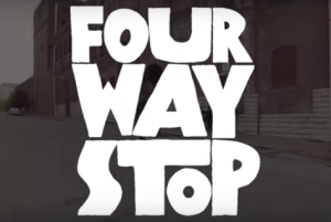 "Four Way Stop Image taken from the clip ""What Inspired the Story"""