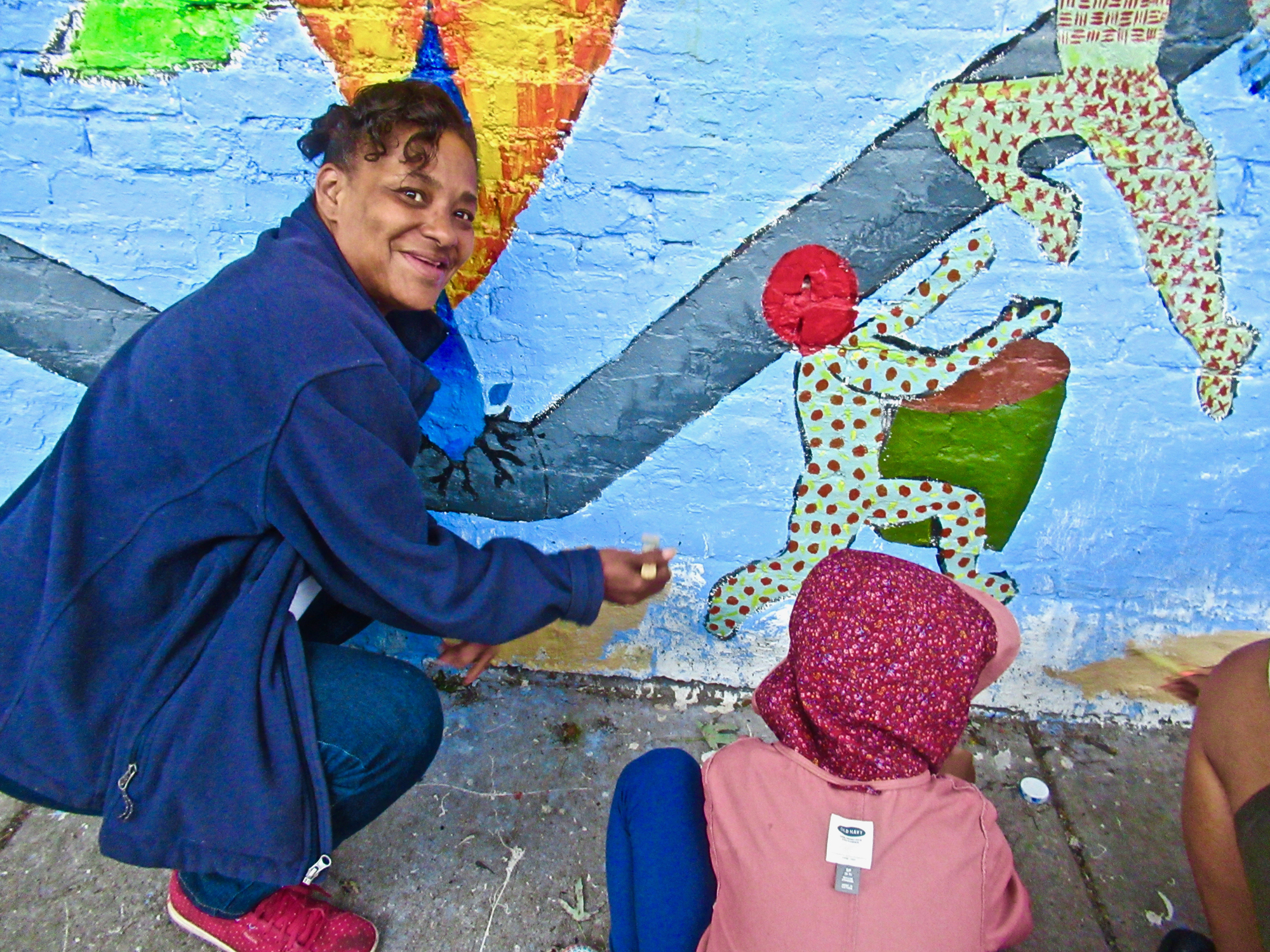 Image from #TheBreathingRoom Space Community Mural in the Back of the Yards neighborhood